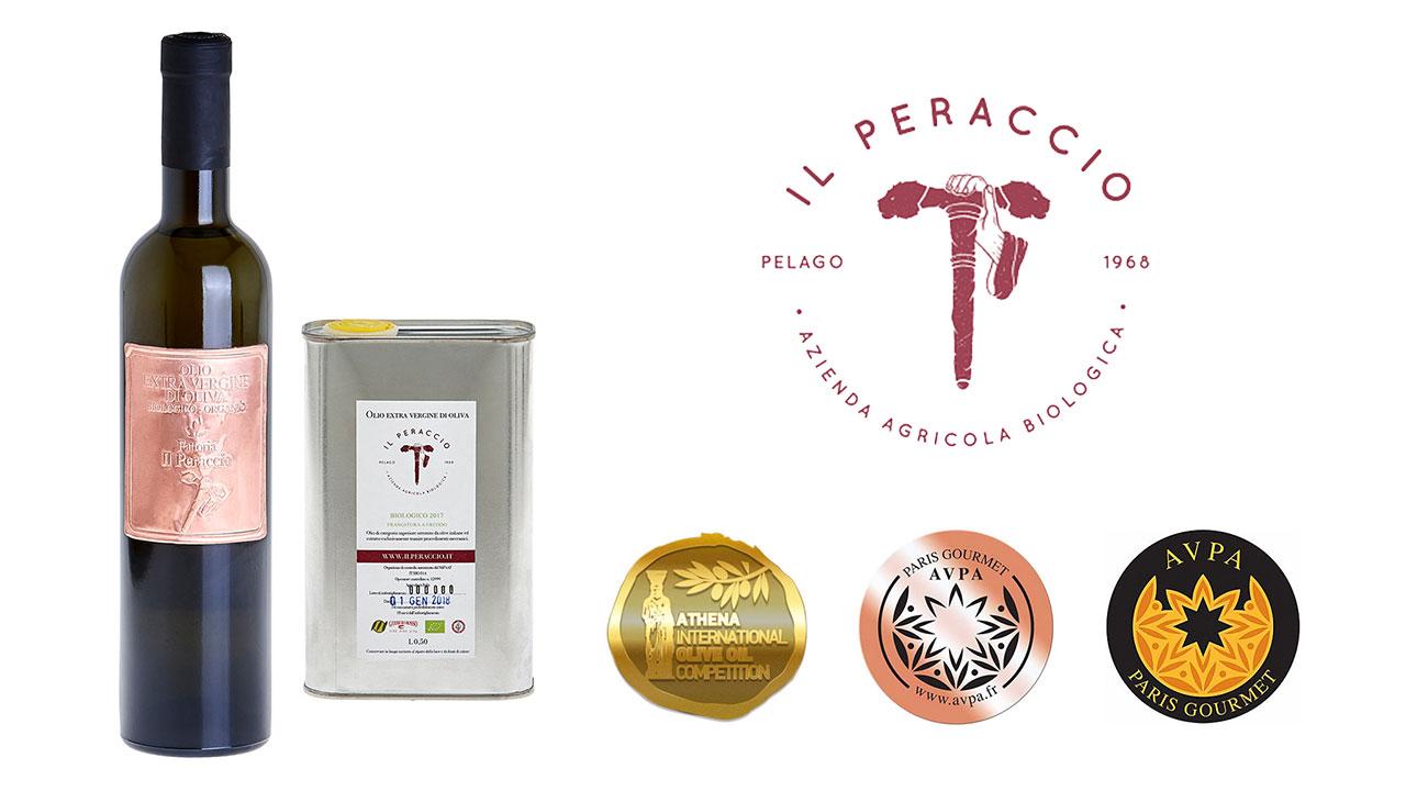 L'olio d'oliva Il Peraccio ha vinto la medaglia d'oro al concorso internazionale dell'olio d'oliva di Atene
